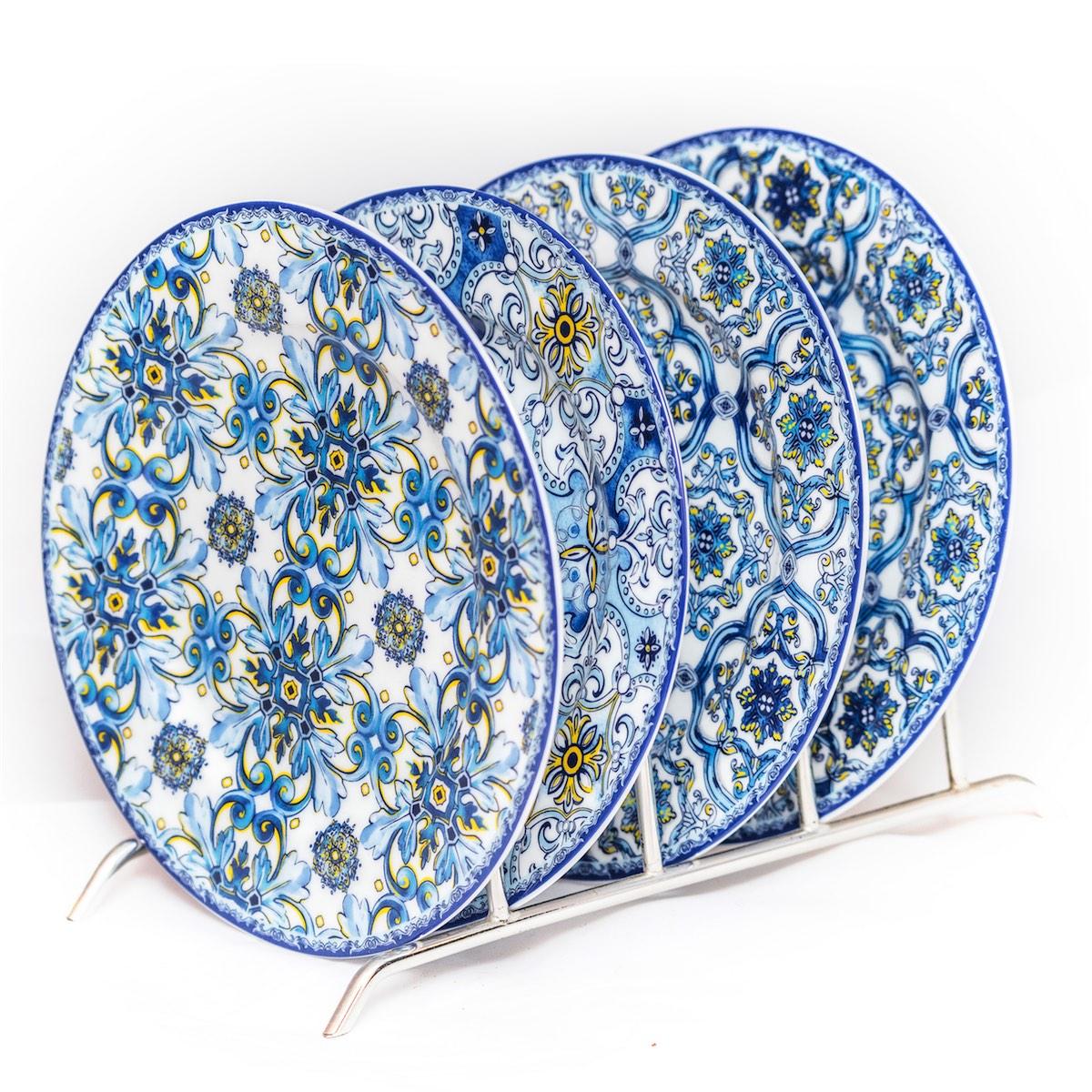 Set de platos de postre de porcelana easy life for Set de platos